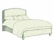 Small Double Caldey Bed