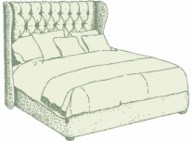 Super King Winged Iona Headboard