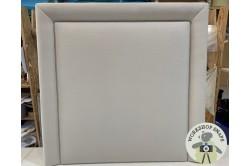 Single Ghia Headboard Pure Cotton Silver EX