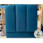 Single Taransay Headboard Highland Plain Teal EX