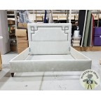 Bespoke Super King Eriskay Bed Crushed Velvet Chrome EX