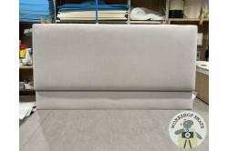 Kingsize Arran Headboard Brushed Linen Chamois EX