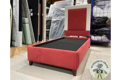 SINGLE GUERNSEY BED BASE AND HEADBOARD IN LINARA HARISSA EX
