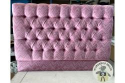 Kingsize Iona Headboard Davie Rose Fabric EX