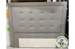 Emperor Floor Standing Jura Headboard Faux Wool Grey EX