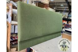 Emperor Arran Headboard Soft Weave Forest Green EX