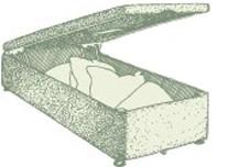 Single Alderney Ottoman Bed
