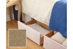 Emperor Jersey Bed Base Marbled Velvet Linen EX