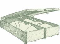Double Alderney Ottoman Bed