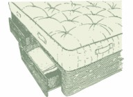 Kingsize Jersey Divan and Mattress Set