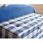 NEW Large Ottoman Check Charcoal EX