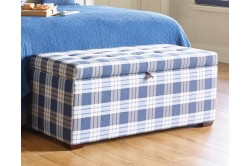 NEW Large Ottoman Check Indigo EX