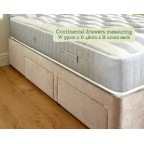 Small Double Jersey Divan and Mattress Set