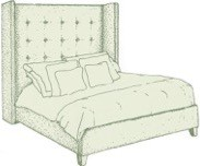 Emperor Winged Mull Headboard