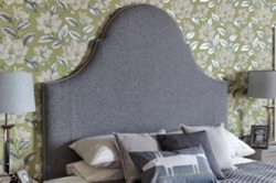 NEW Super King Rhum Headboard - Wool Grey EX