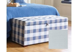 Medium Plain Lid Ottoman Cotton Sorbet EX