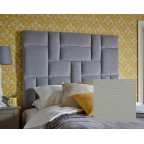 Kingsize Bute Headboard Faux Leather Chalk EX