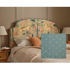 Double Puffin Headboard Wedgwood Spot