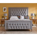 Superking High Easdale Bed Faux Wool Grey EX