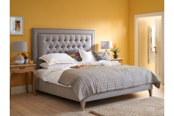 Superking Low Easdale Bed Faux Wool Grey EX