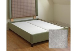 Bespoke Single Flush Top Guernsey Bed Base Marbled Velvet Silver EX