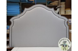 "NEW Super King ""Shuna"" Headboard Brushed Linen Pigeon EX"