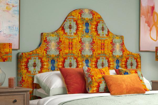 Samson Bed in Susi Bellamy Grey Stucco