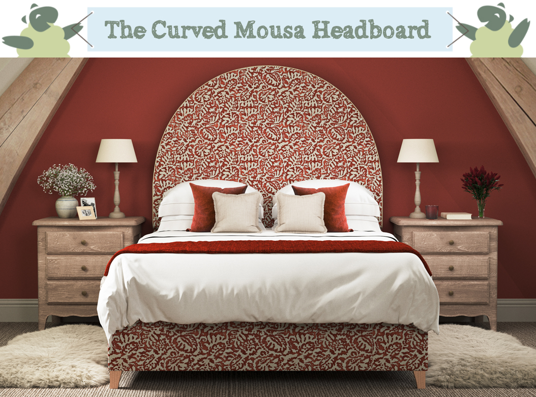 THW - Mousa Headboard -Majolica-Voodoo-Front-Contrast-Piped