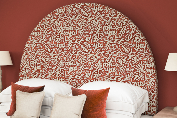 THW - Mousa Headboard -Majolica-Voodoo-Front-Self-Piped
