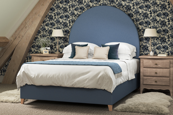 THW - Mousa Headboard -Brushed-Linen-Nordic-Blue-Angled-Lifestyle