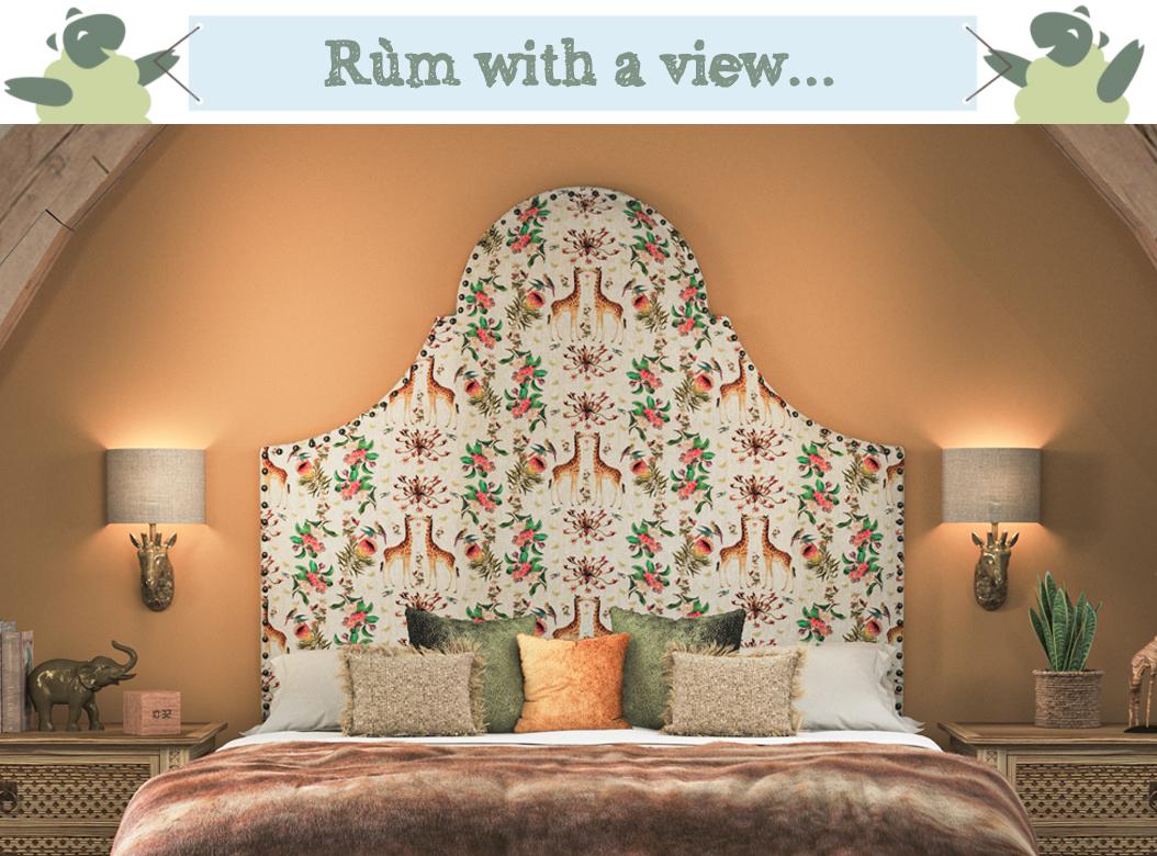 Rum-Headboard-Porcupine-Rocks-Giraffe-Blossom-Antique-Brass-Nail
