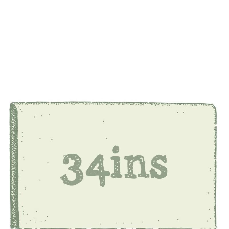 34ins (87cm)
