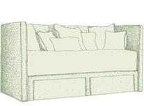 2 drawers base