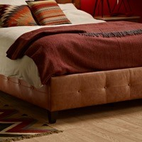 Buttoned Side Panels & Low Buttoned Footboard