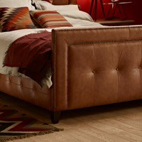 Buttoned Side Panels & High Buttoned Footboard